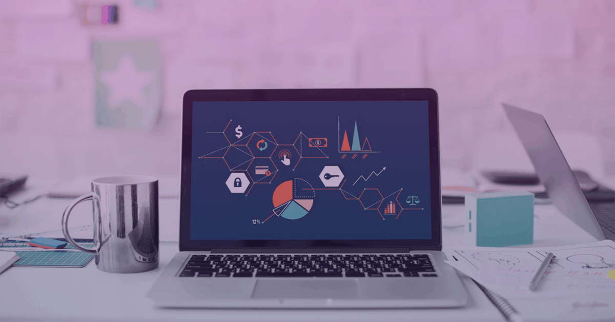 A laptop sits on a cluttered desk with analytics and metrics strewn about the screen. Marketers know how important branding can be; understanding what you're doing wrong or right is the first step to a successful marketing plan.