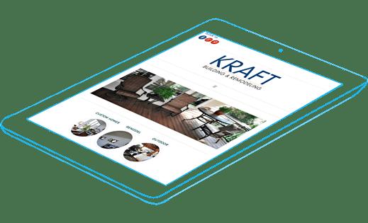 Kraft Building & Remodeling website and social media management.