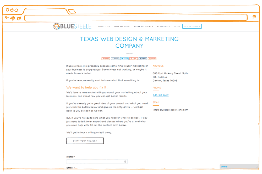 Lead conversion — example of a tweak to a contact page