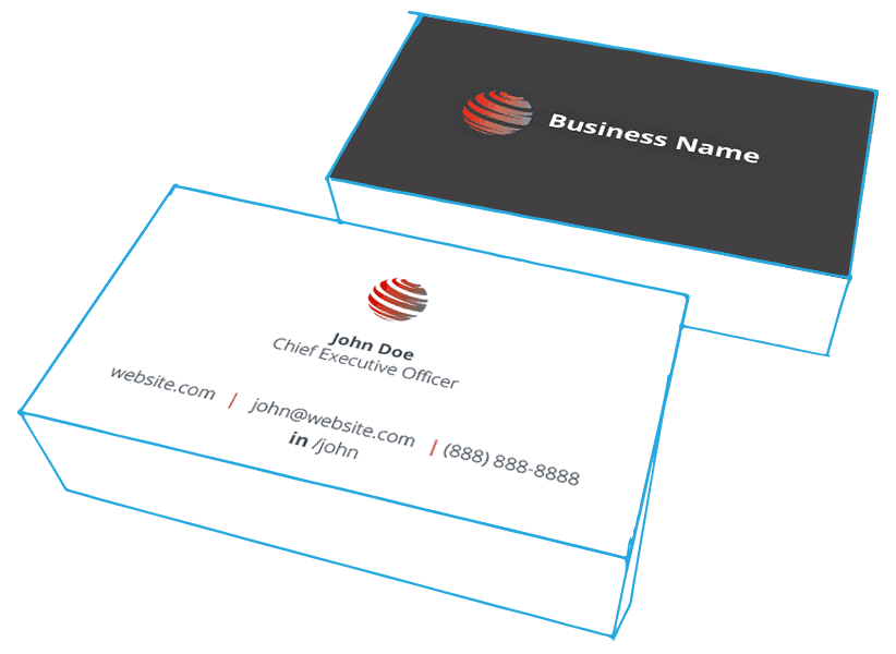 IT Marketing package —business card redesign