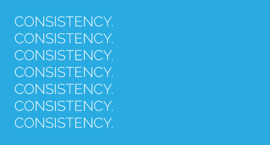 One of the most important graphic design rules is consistency