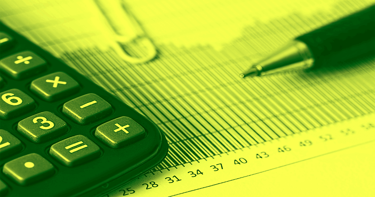 A green gradient image shows a bar graph, a pen, and a calculator. Measuring ROI can increase your sales by 15-20%, and it's one of the best ways to measure your marketing efficiency.