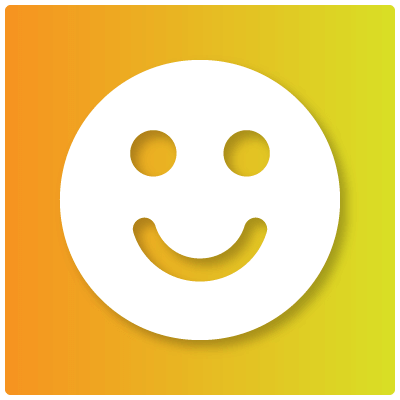 Storytelling makes us happy, like the smiley face pictured here — learn why storytelling and marketing are so closely intertwined.