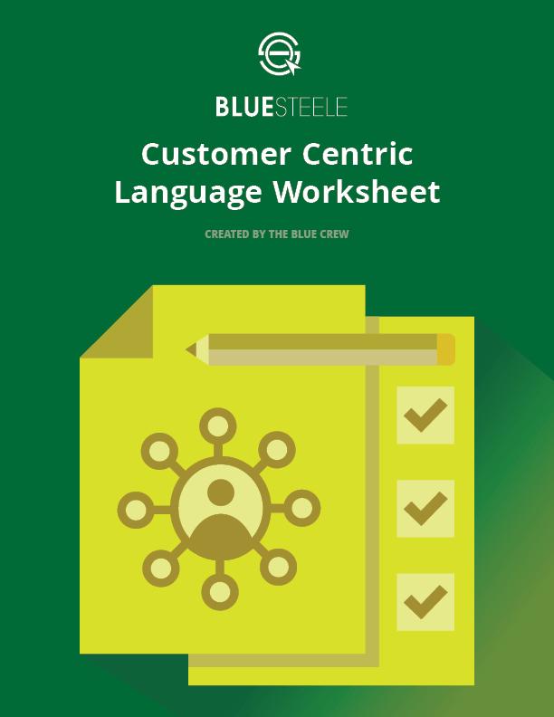 Customer Centric Language Worksheet V1