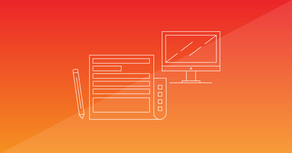 A sheet of paper and a computer screen on an orange background. Writing a press release, online or offline, doesn't have to be a struggle —in fact, shorter PRs tend to be more effective. Learn more.