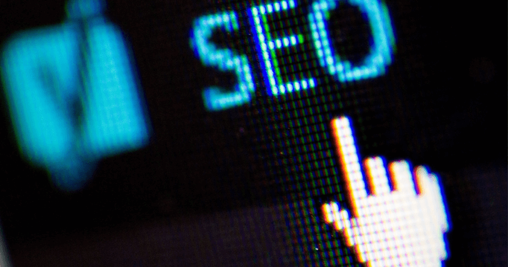 """A digital hand-shaped mouse icon clicking on the word """"SEO."""" Though there are many SEO practices out there that have become outdated, some old techniques are still viable. Learn more."""