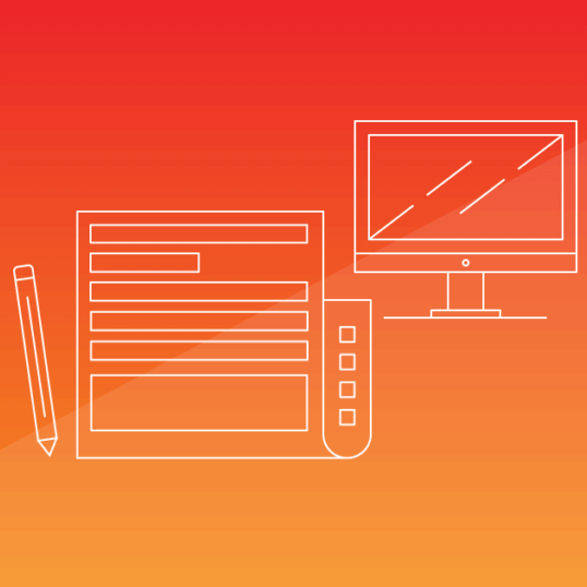 A sheet of paper and a computer screen on an orange background. Writing a press release, online or offline, doesn't have to be a struggle — in fact, shorter PRs tend to be more effective. Learn more.