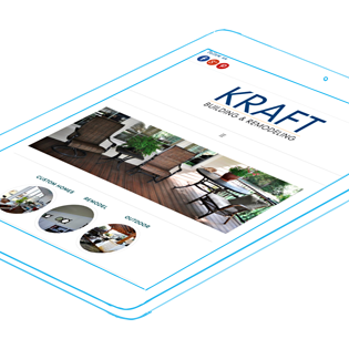 Kraft Building & Remodeling website and social media management.