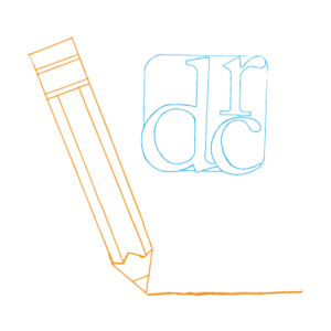 We are no longer writing for the DRC — orange pencil and blue DRC logo