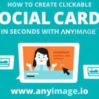 Rich social media snippets can improve website traffic and social media engagement — and they're simple to set up, just as promised in this image from anyimage.io with someone creating a social media card on their computer.